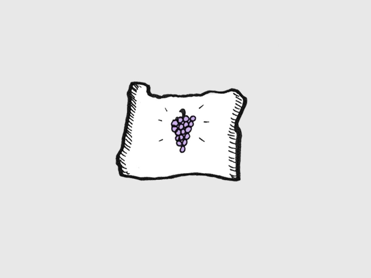 Oregon Wine Illustration by Wine Folly