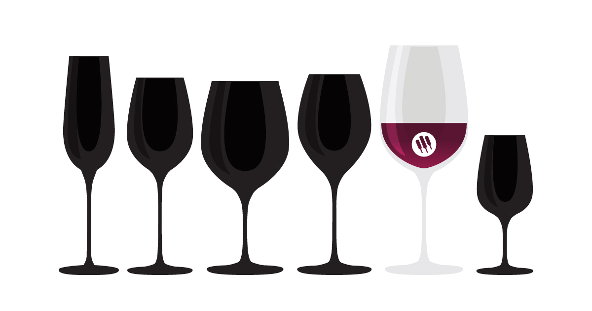 Oversized aka Bordeaux wine glass illustration by Wine Folly