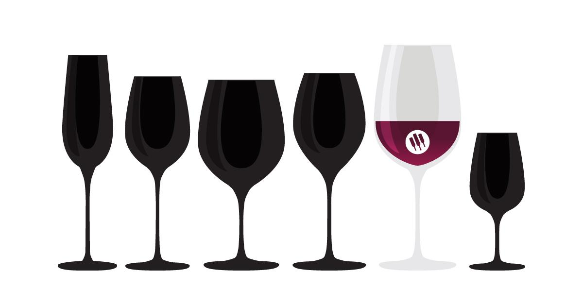 Oversized aka Bordeaux wine glass illustration by Wine Folly