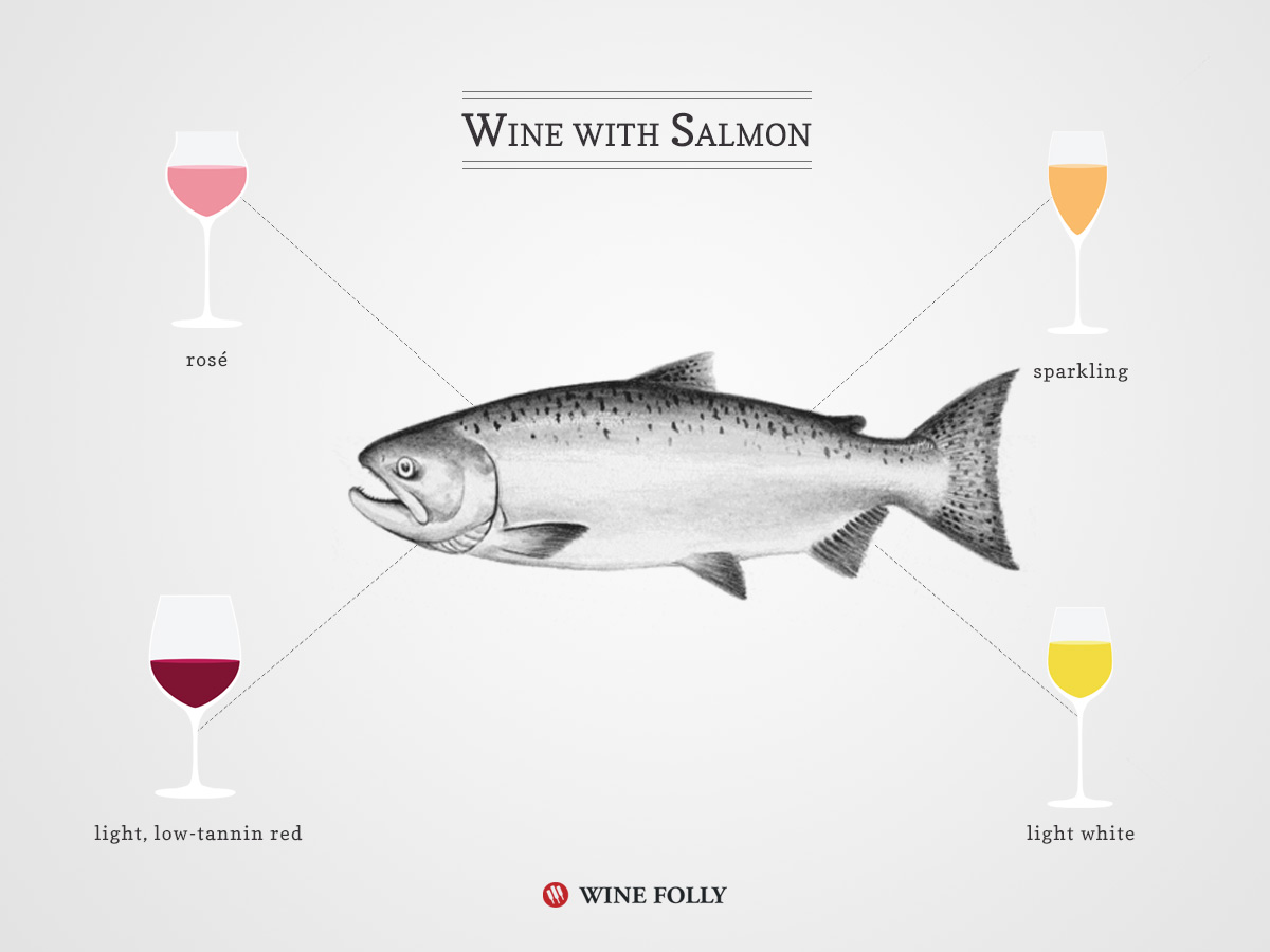 A guide to pairing wine with Salmon by Wine Folly