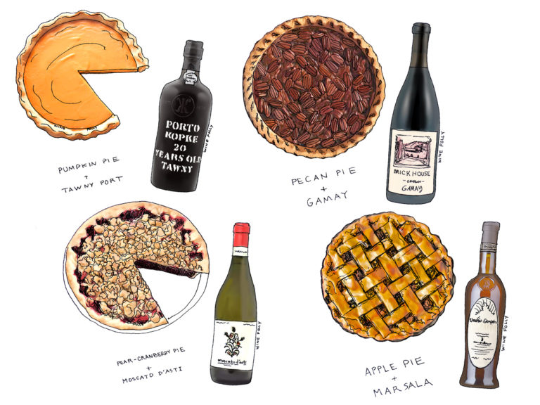 Pie and Wine Pairings Illustrations by Wine Folly