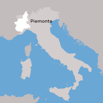 Piedmont Wine Region Map by Wine Folly