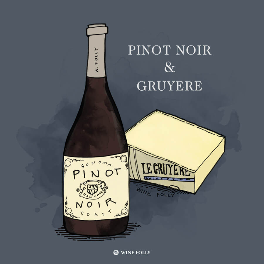 pinot-noir-gruyere-cheese-pairing-illustration