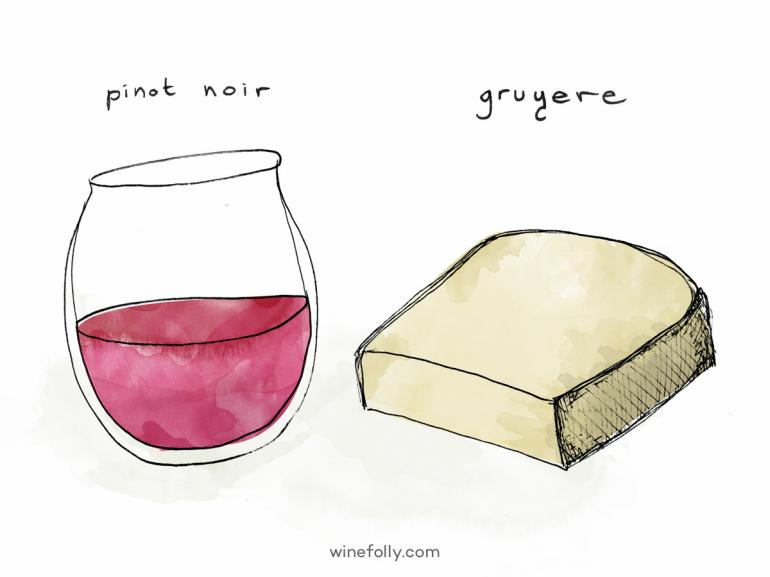 pinot-noir-gruyere-comte-wine-cheese