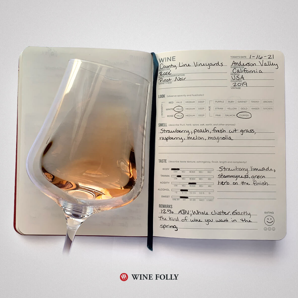 pinot-noir-rose-wine-tasting-notes-journal
