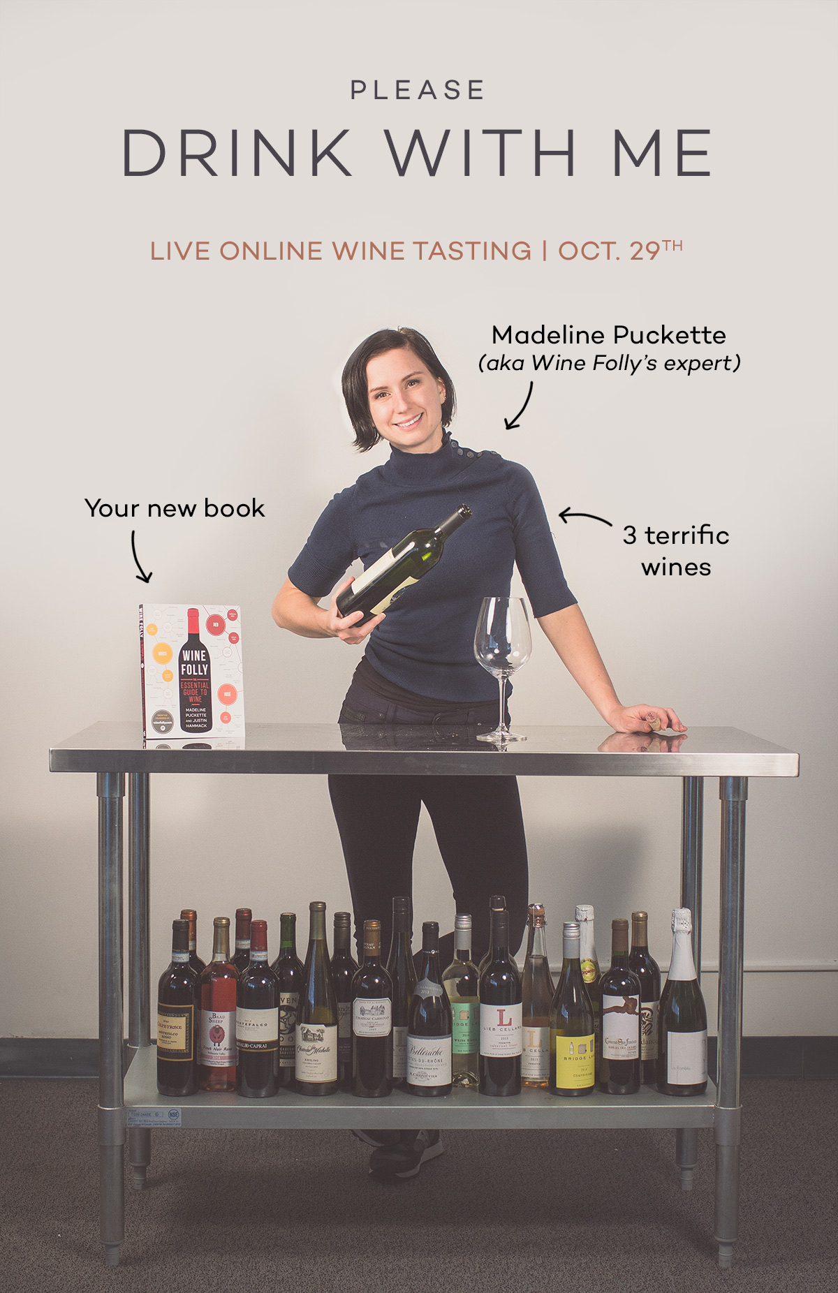 Please drink with me, Madeline Puckette, wine expert at Wine Folly