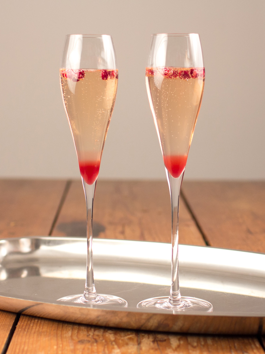 Pomegranate Champagne cocktail recipe with Prosecco is the best