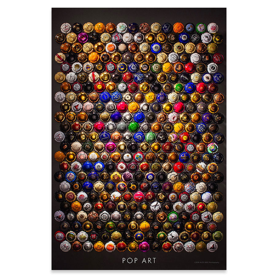 Pop Art Champagne Capsule Wine Poster
