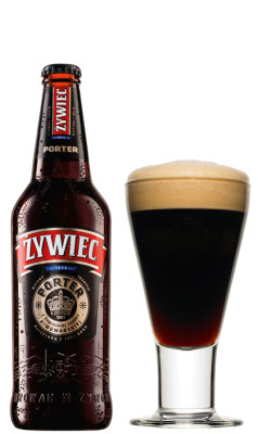 Zywiec Russian Porter Beer in a Glass