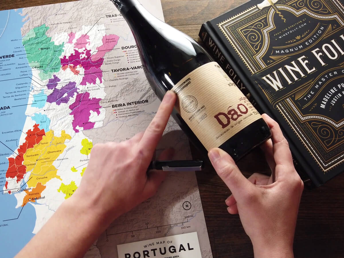 Portugal Dao Wine - Wine Folly Map and Book