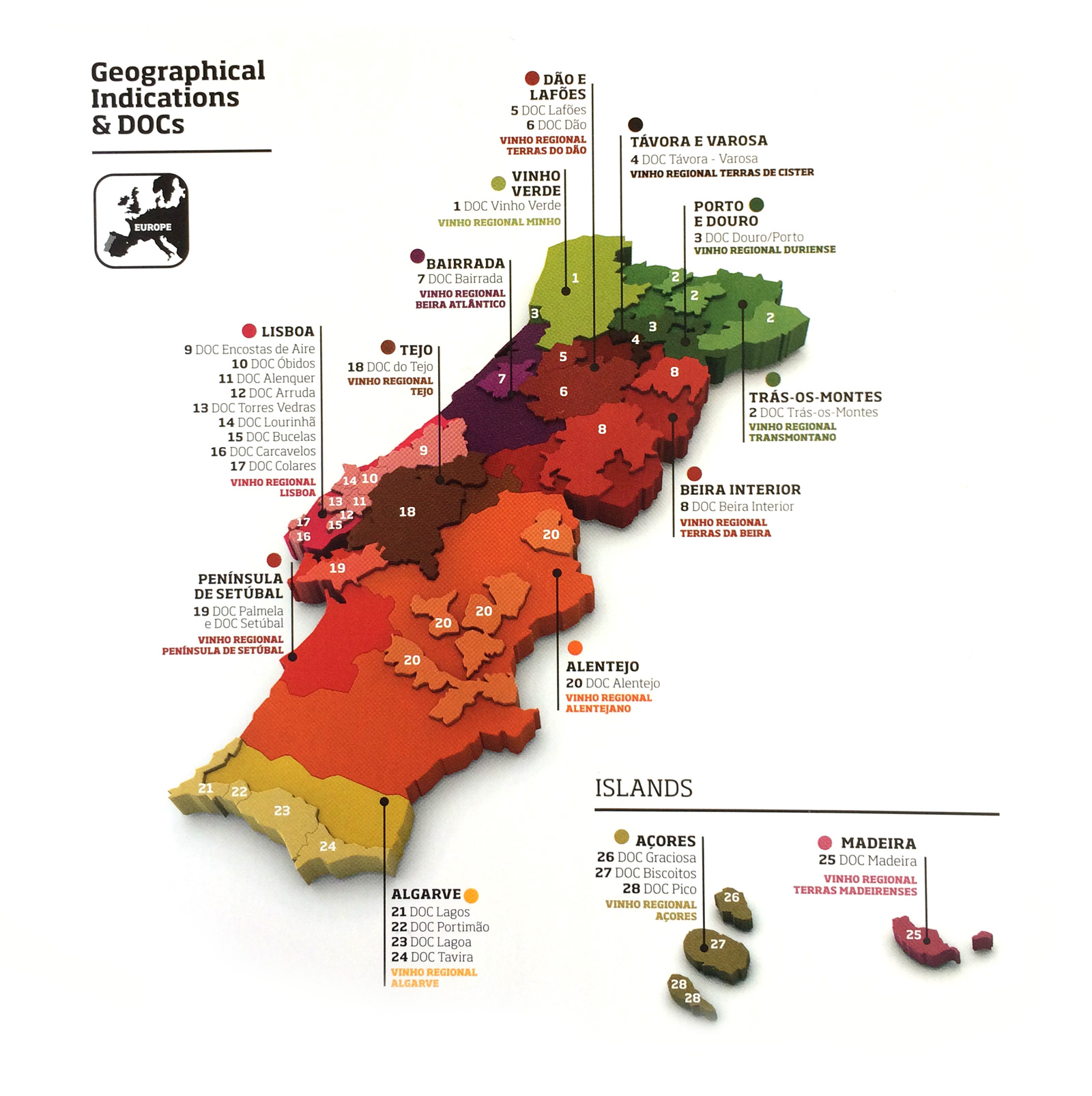 Portugal Regional Wine Map