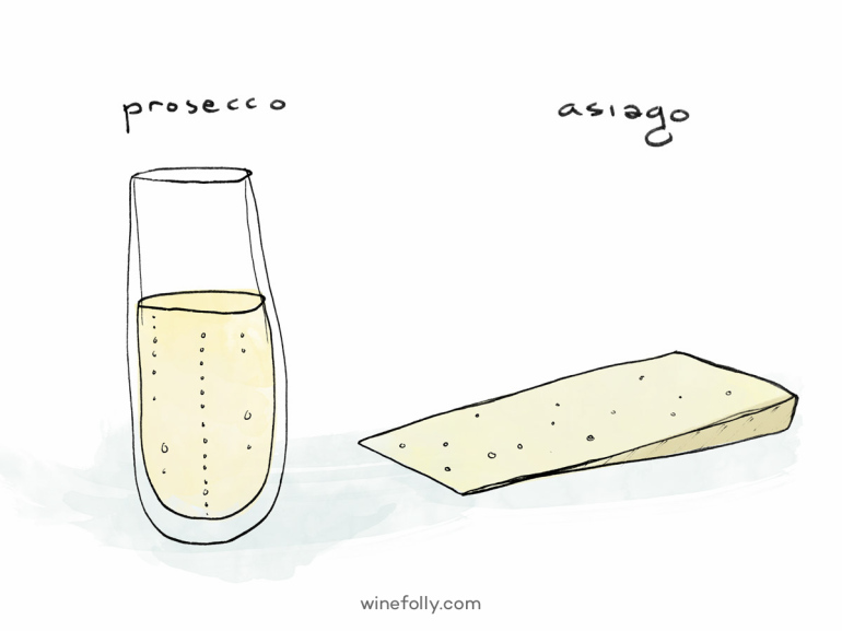 prosecco-asiago-wine-cheese