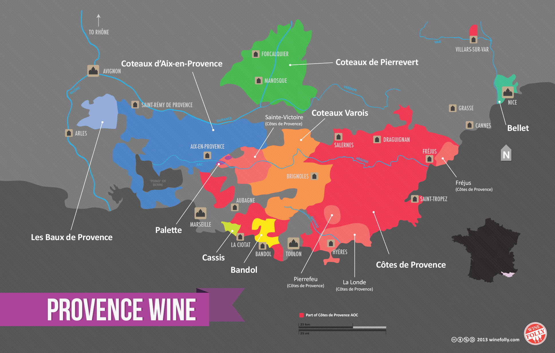 Map Of France Showing Marseille.Essential Guide To Provence Wine Region With Maps Wine Folly