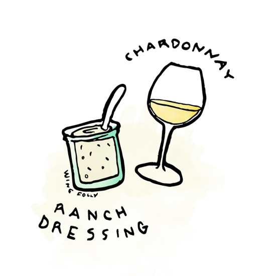 ranch-salad-wine-pairing-chardonnay