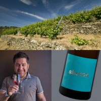 Vineyards in Spain, Raul Perez, bottle of Sketch wine.   by Friederike Paetzold