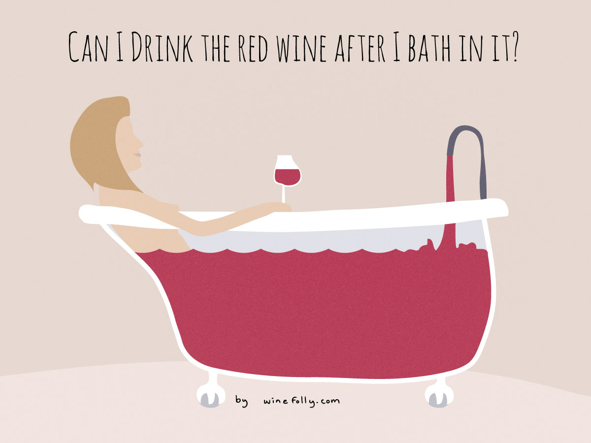 Are there actual benefits to a red wine bath? | Wine Folly