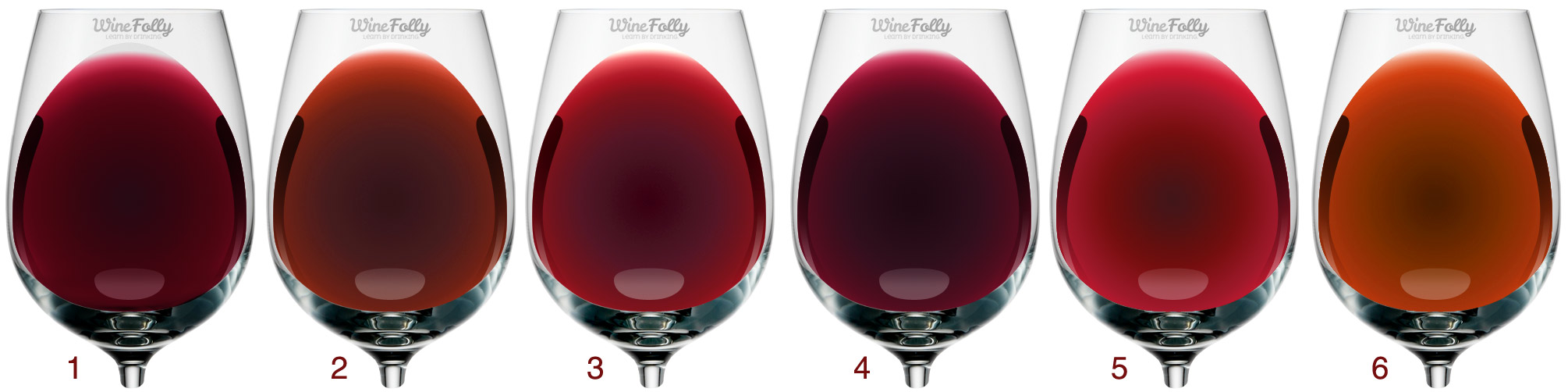 The color of wine can indicate, how 'big' the wine is, how old, and what varietal