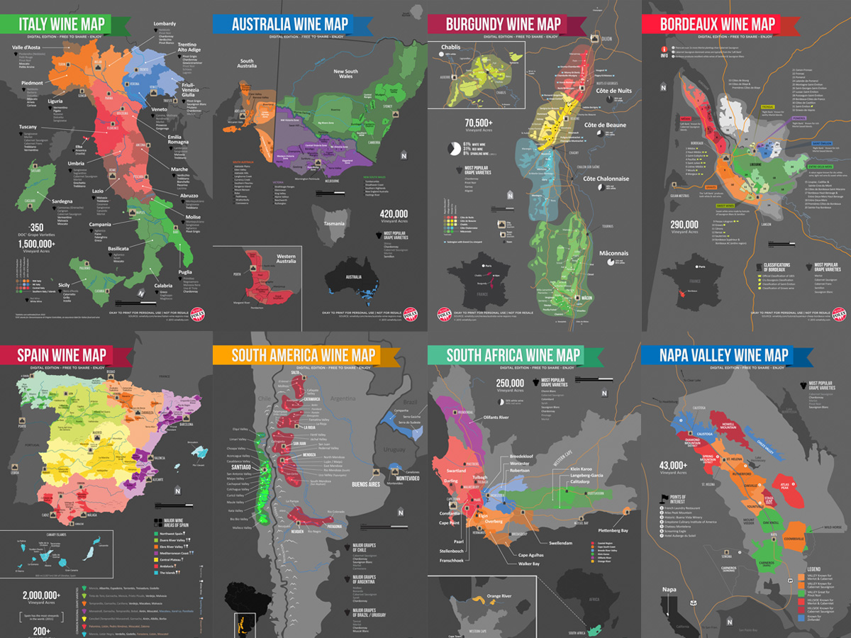Map Of Spain Vineyards.Download Wine Maps Free Wine Folly