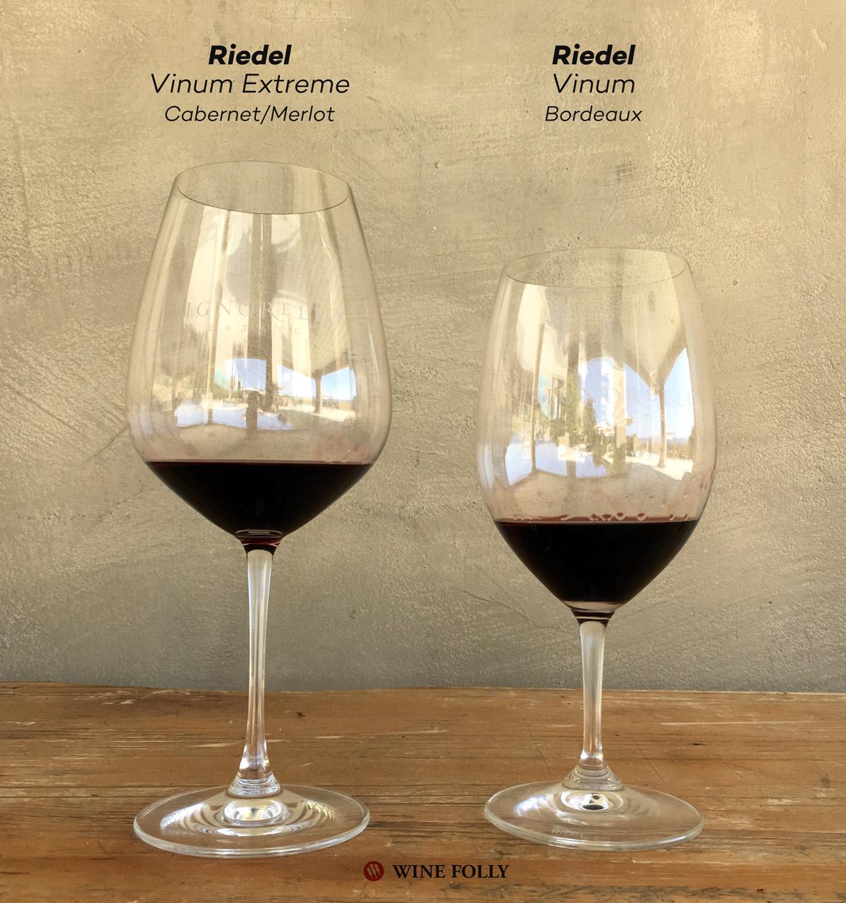 Riedel Wine Glasses Vinum Extreme vs Vinum Bordeaux