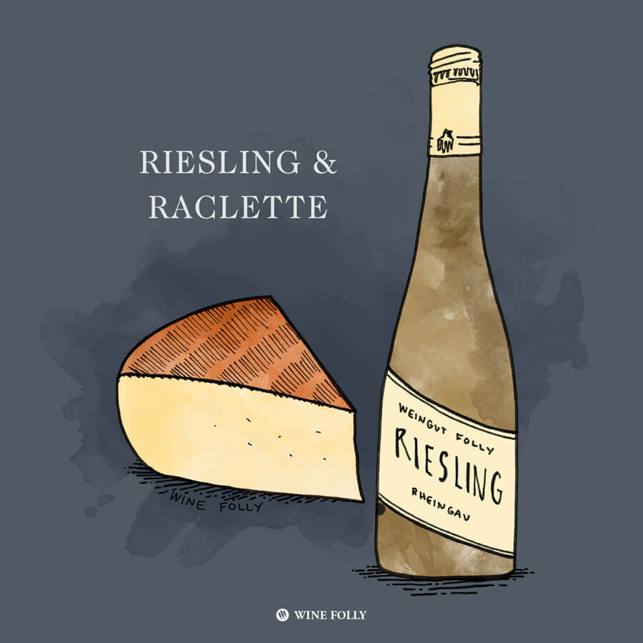 riesling-raclette-cheese-pairing-winefolly-illustration