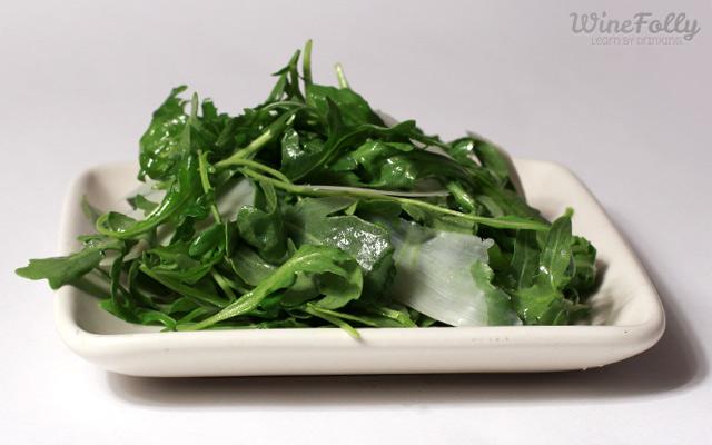 rocket arugula salad with parmesan and lemon vinaigrette