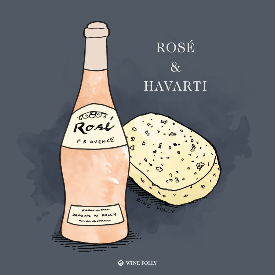 rose-de-provence-havarti-cheese-pairing-illustration