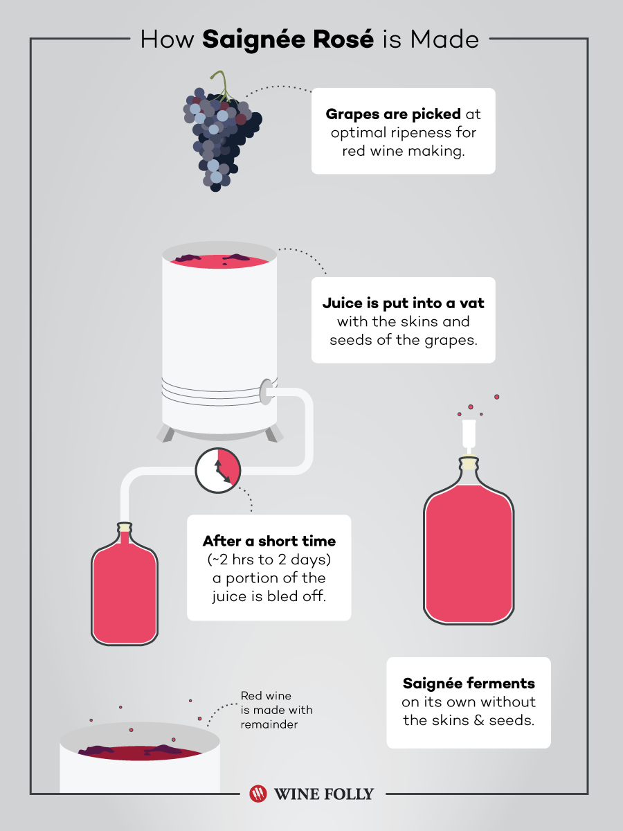 How Saignee Rosé Wine is Made by Wine Folly