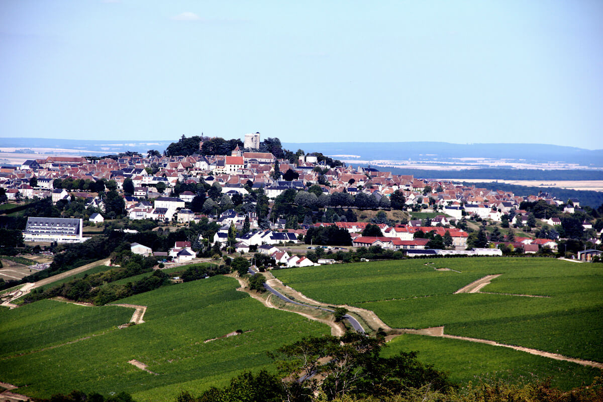 The wine region of Sancerre in France.