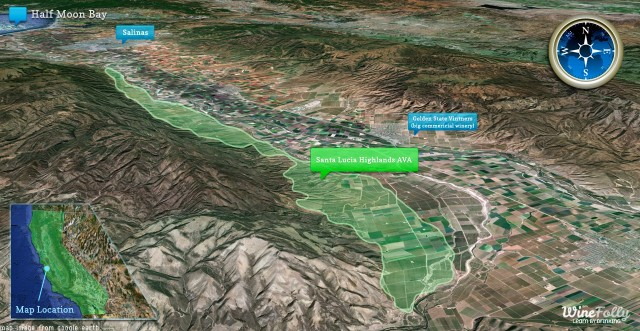 Santa Lucia Highlands AVA map