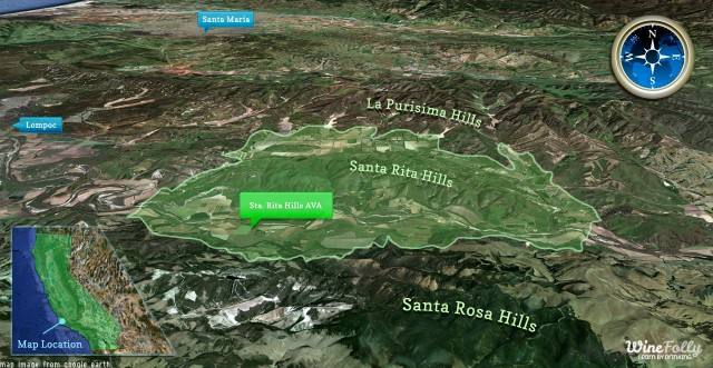 Sta. Rita Hills AVA map