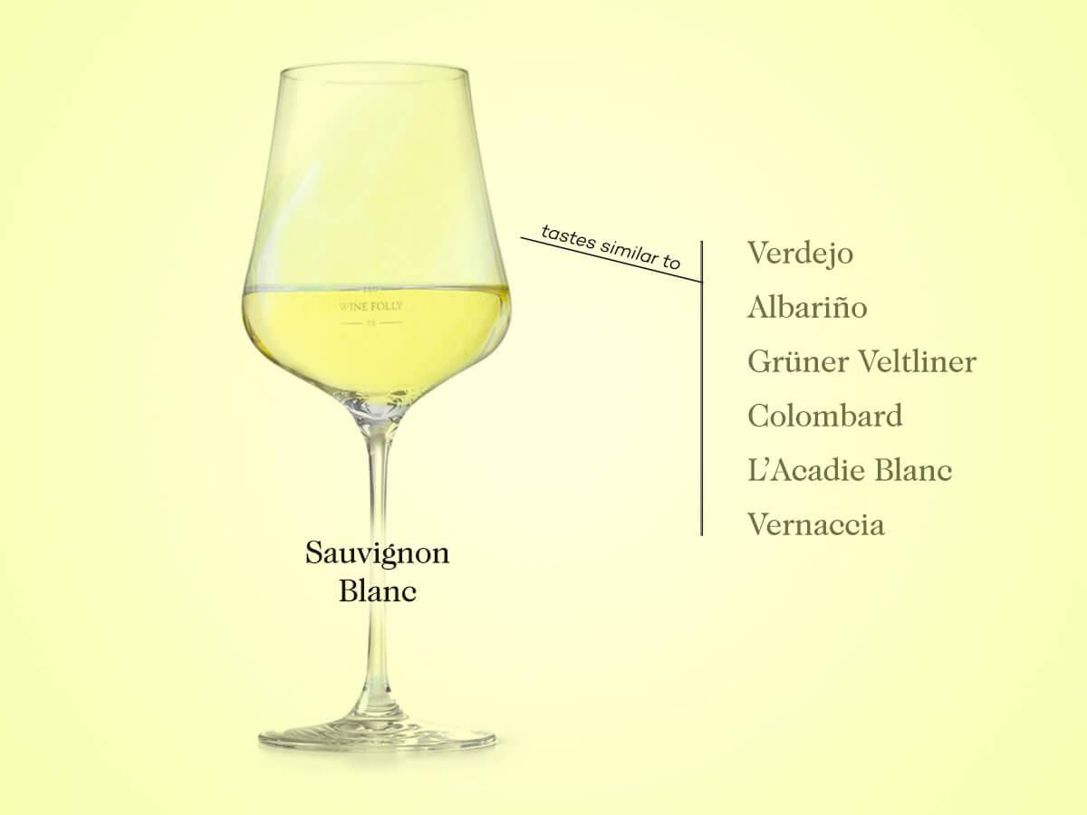 Sauvignon Blanc substitutes include verdejo, albarino, colombard, gruner veltliner, Vermentino, Vernaccia
