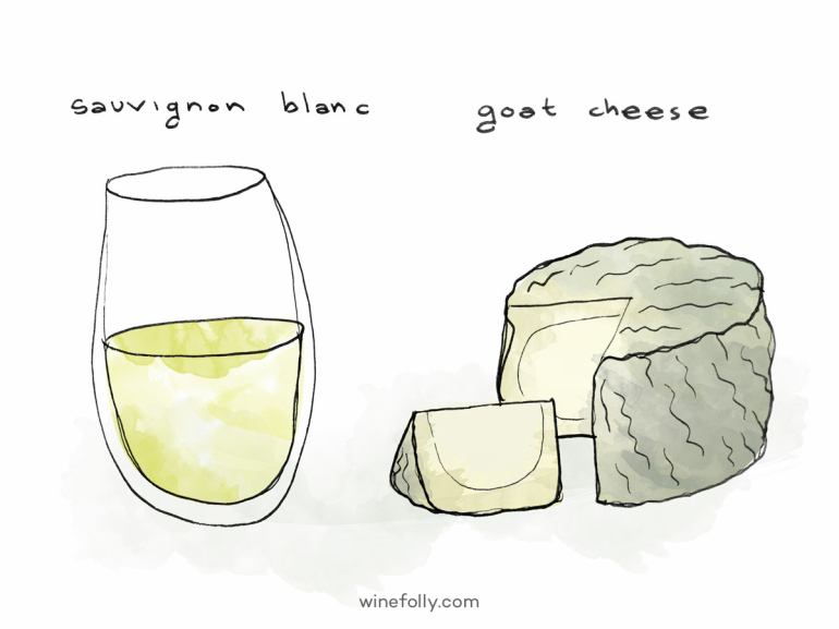 sauvignon-blanc-wine-goat-cheese
