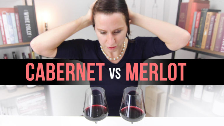 Madeline Puckette stares at two glasses of red wine