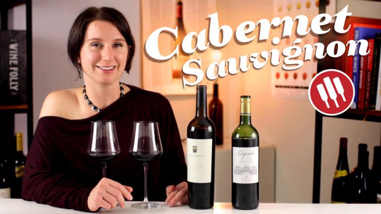 Madeline Puckette tastes Cabernet Sauvignon in 2019