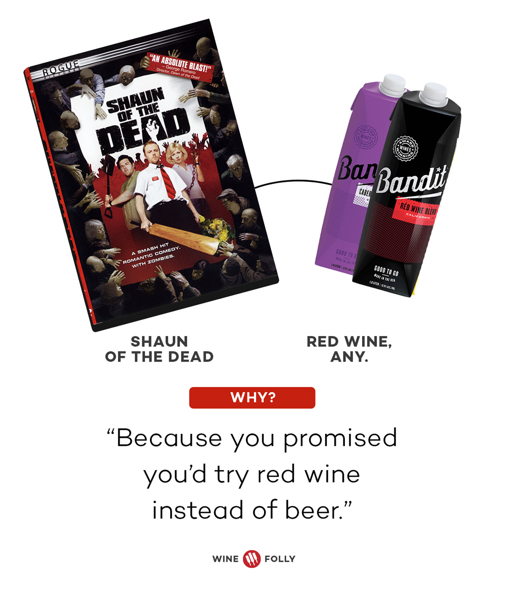 Shaun of the Dead Red wine Horror Movie Wine Pairing