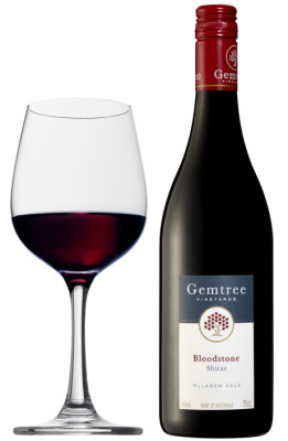 Gemtree Australian Shiraz in a Red Wine Glass
