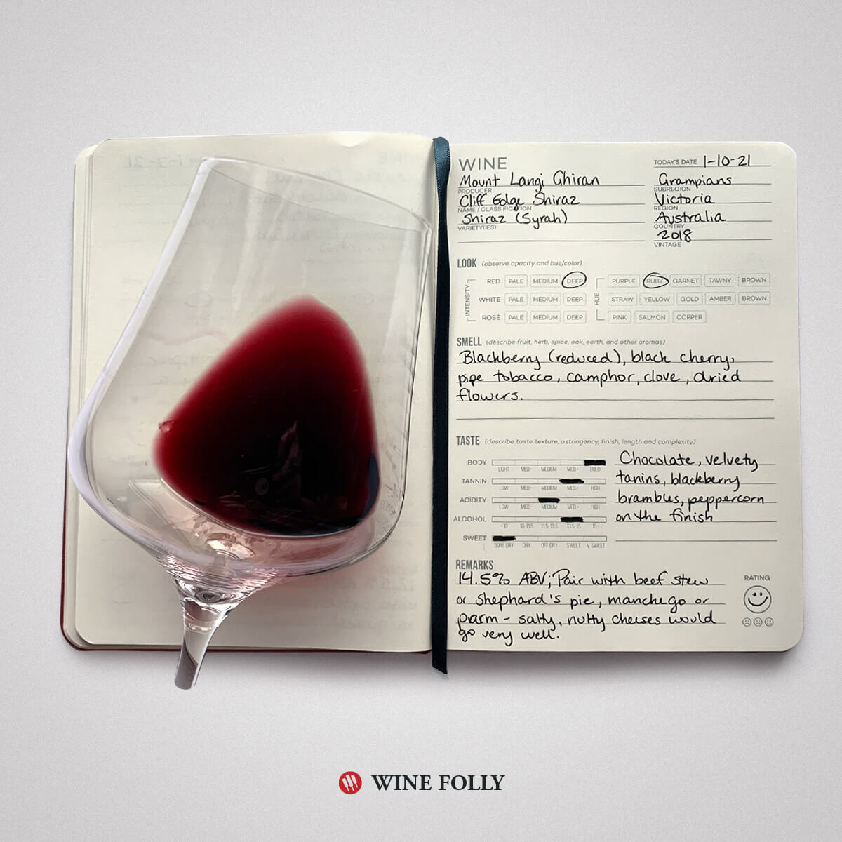 shiraz-wine-tasting-notes-journal