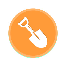shovel icon by wine folly