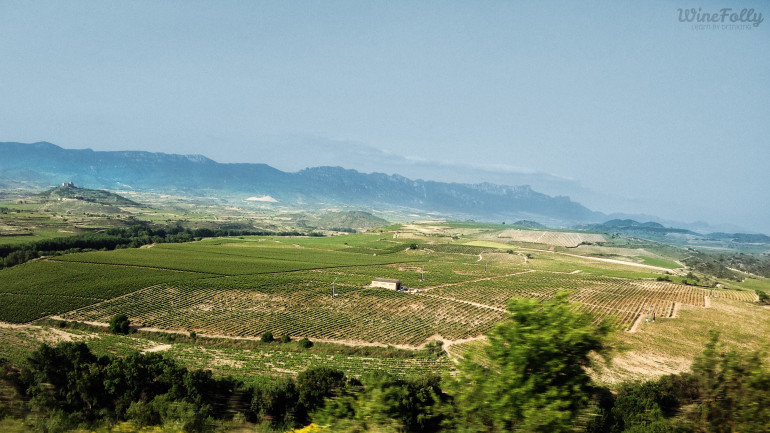 The Sierra Cantabria Mountains in Rioja Alta