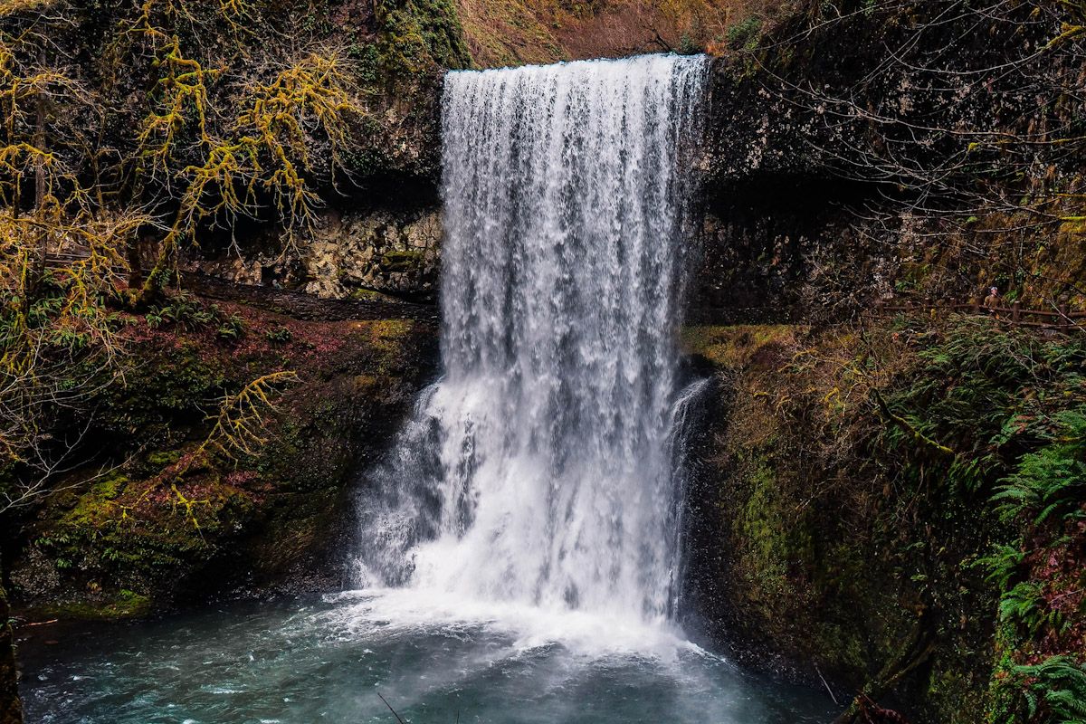One of the many waterfalls in Silver Falls State Park.