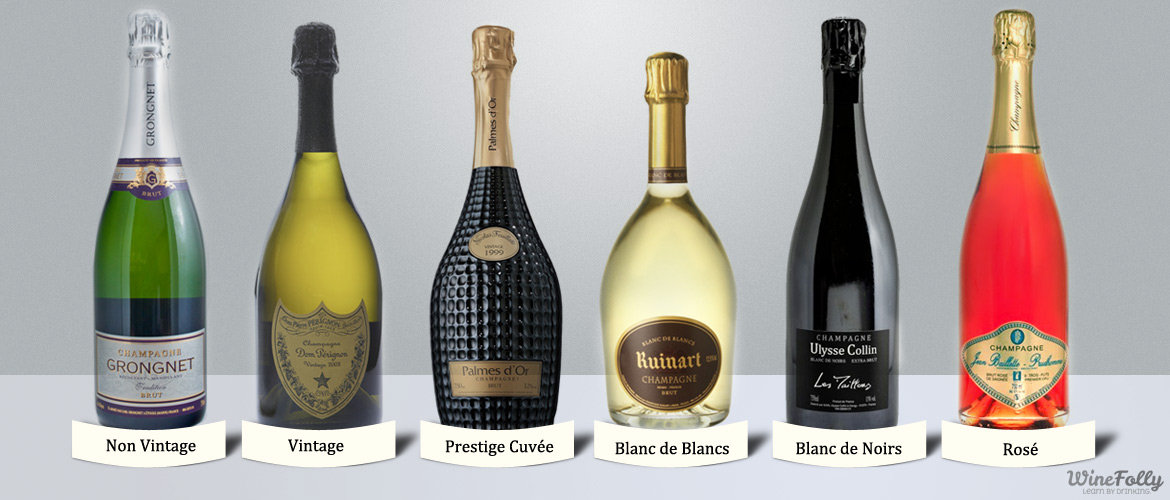 Six Different styles of Champagne