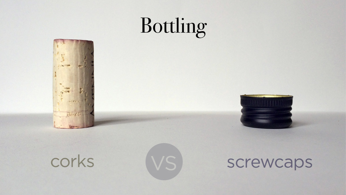 Screw caps vs corks