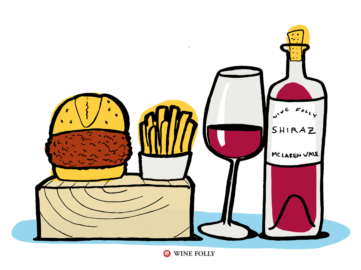 Sloppy Joe Wine Pairing with Shiraz