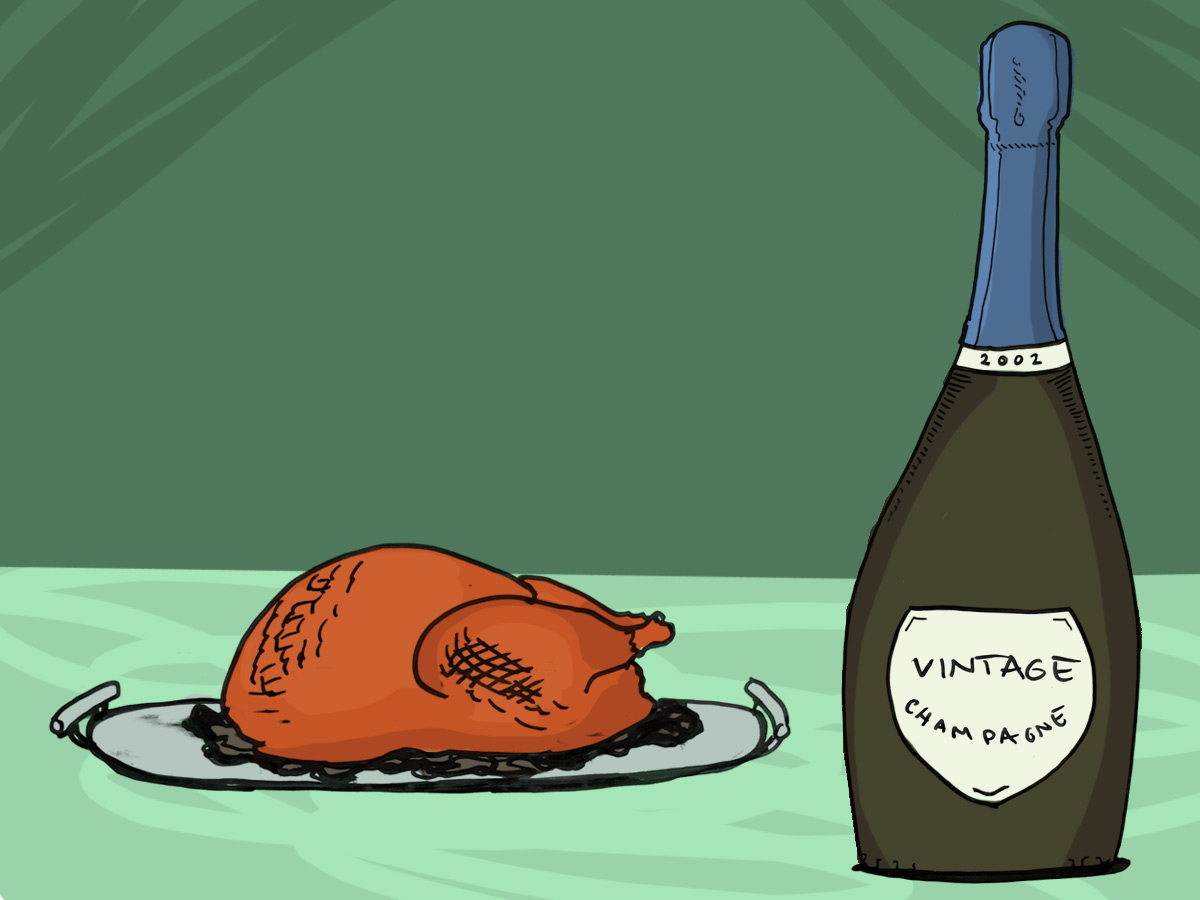 smoked-turkey-and-champagne-wine