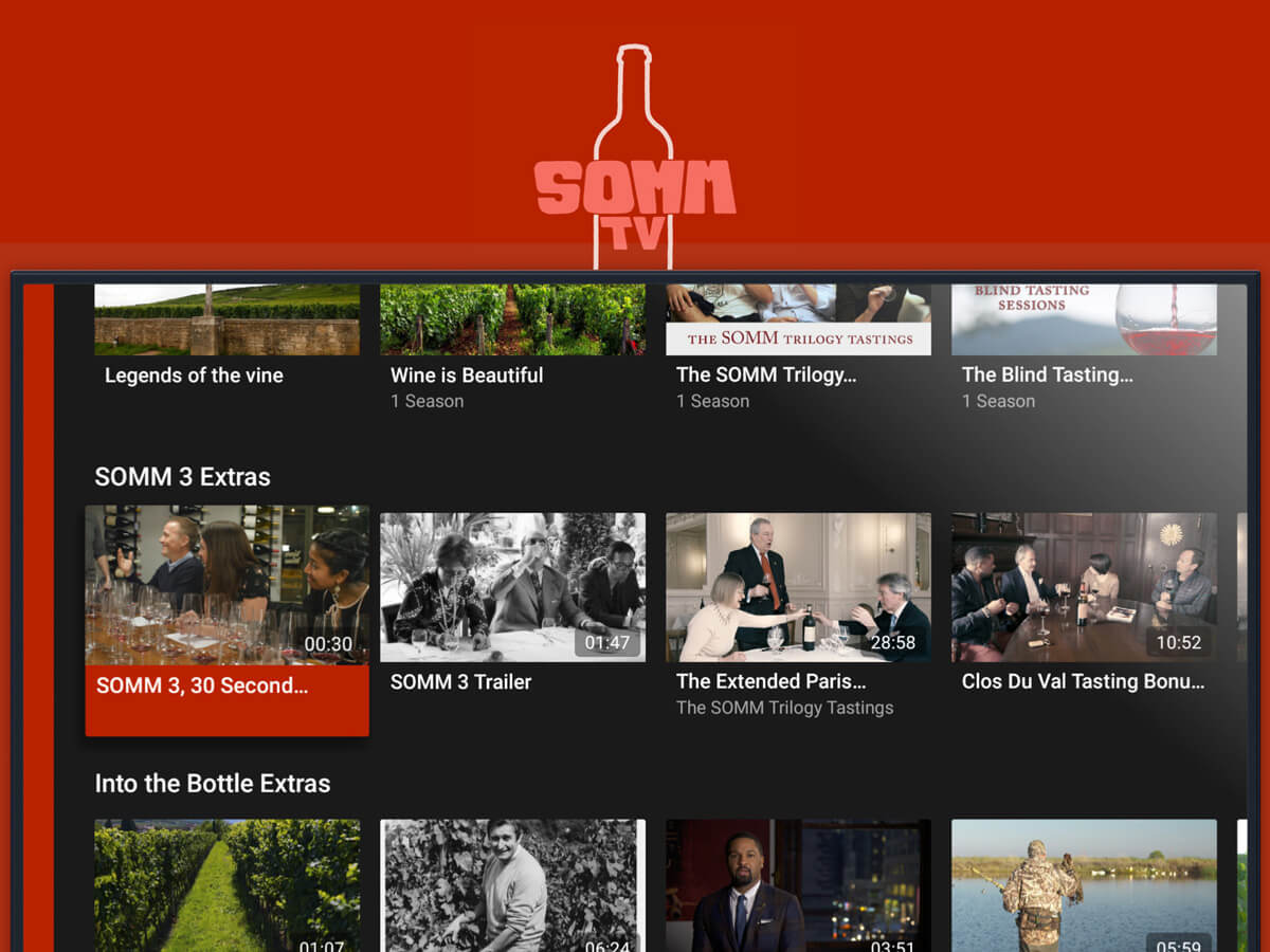 A wine-dedicated tv channel Somm TV
