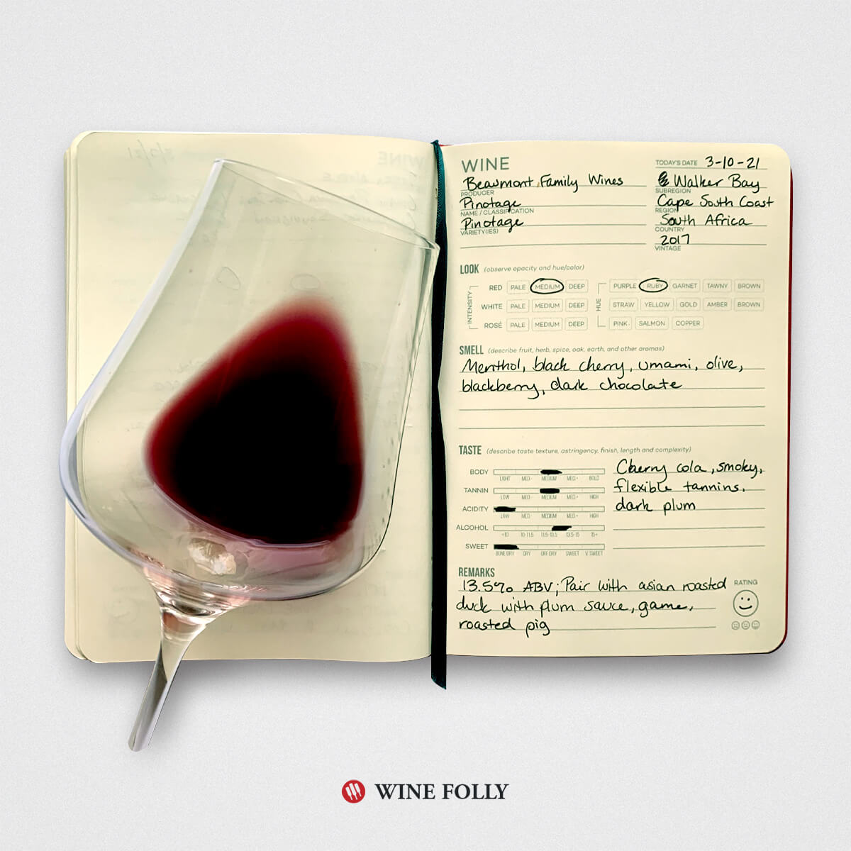 pinotage-tasting-journal