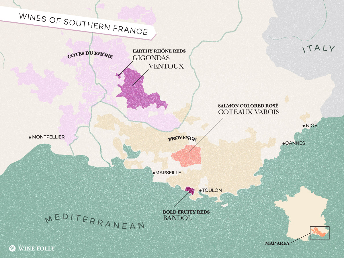 Map South Of France.Treasure Map Exotic Wines Of Southern France Wine Folly