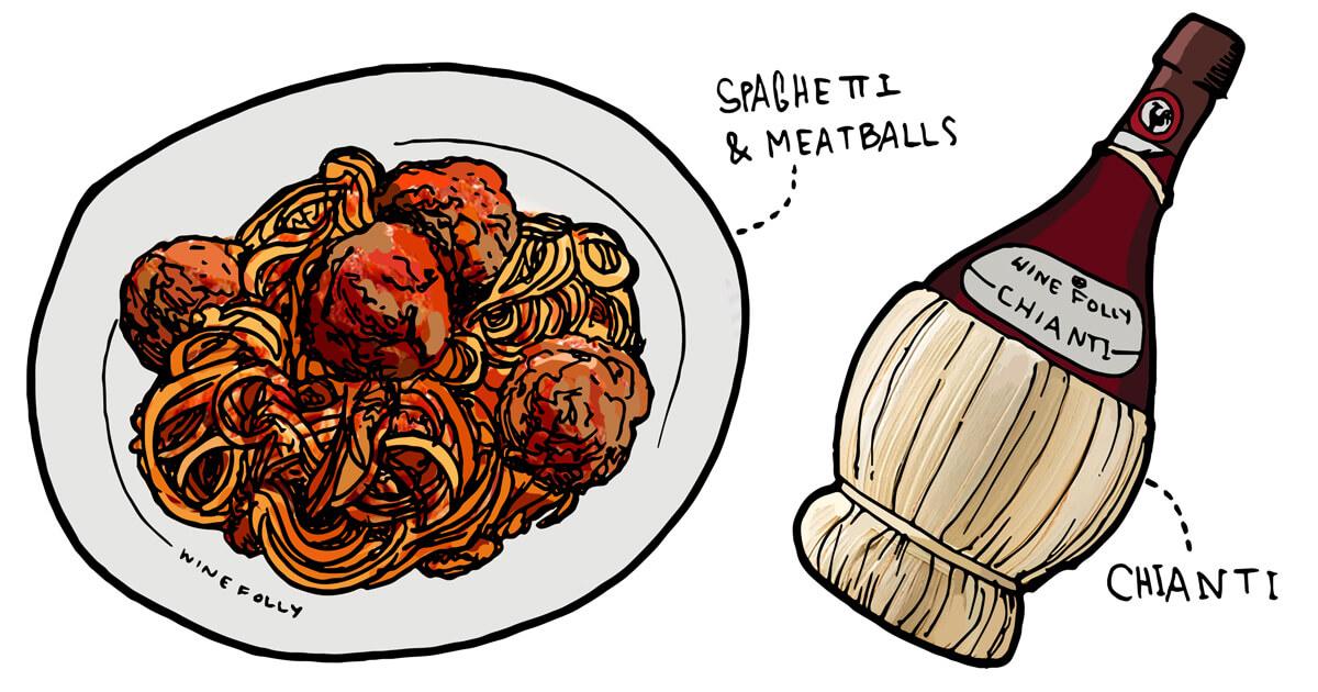 spaghetti-meatball-wine-pairing-illustration-winefolly