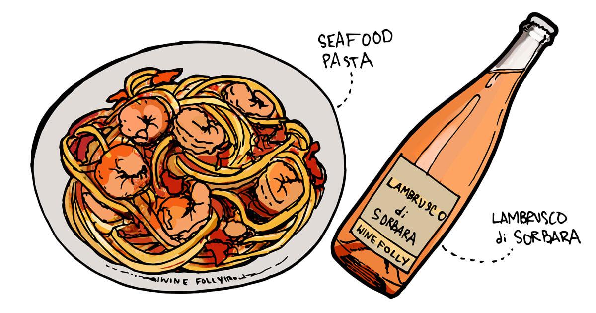 spaghetti-shrimp-fra-diavolo-rose-winefolly-pairing