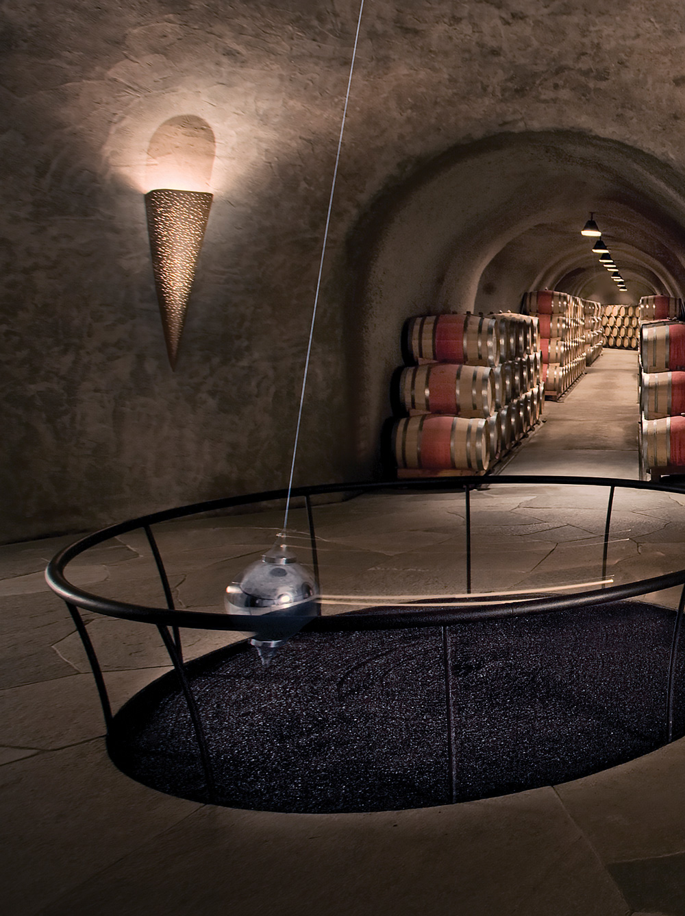 The Foucault pendulum at Stag's Leap Wine Cellars